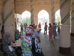 Outside the Market in Tashkent