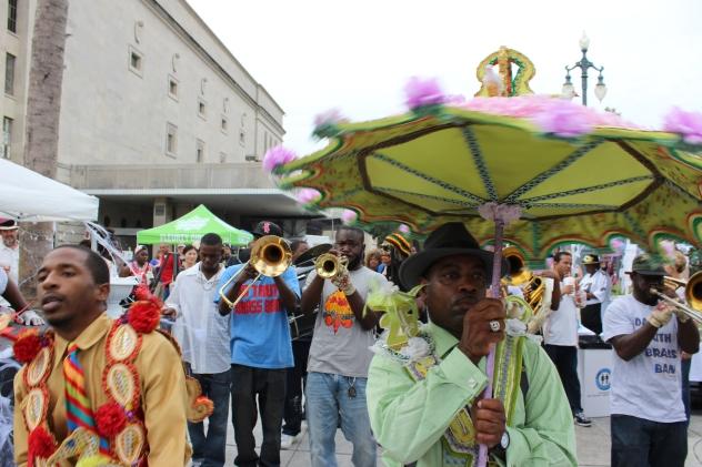 Procession in Congo Suare