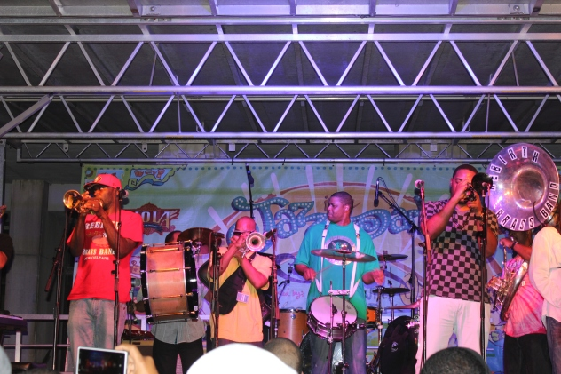 Rebirth Brass Band in Armstrong Park