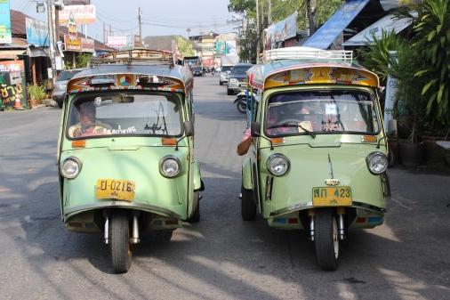 Tuk-tuks in Trang, Thailand