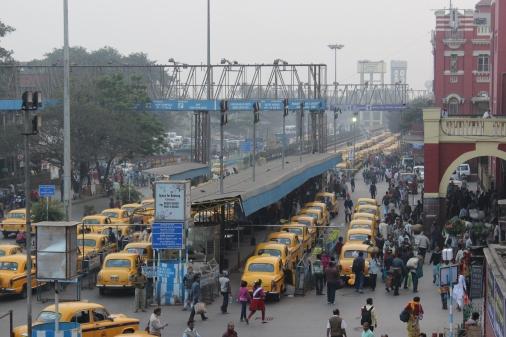Counting yellow cabs in Kolkata, India