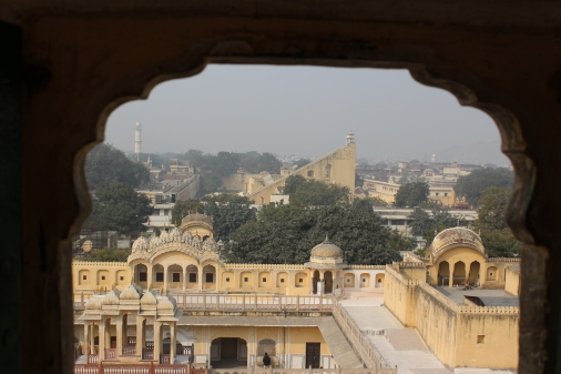View of the Pink City: Jaipur, India
