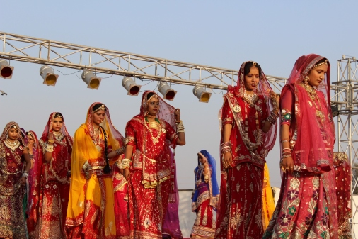 Rajasthan beauties at Bikaner's camel festival
