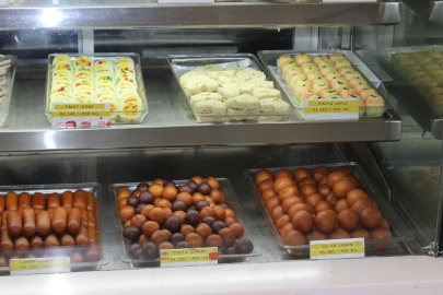 Sweets in Delhi shop, India