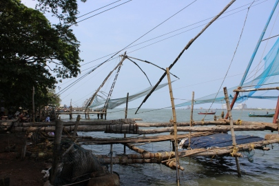 'Chinese Nets' in Kochi, Kerala, India