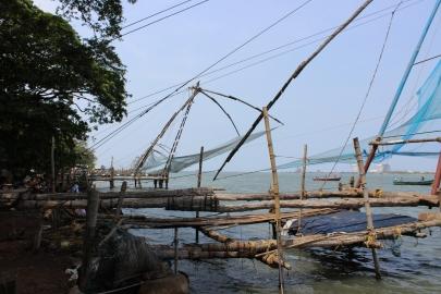 'Chinese Nets' in Kochi, Kerala, India