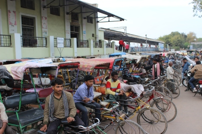 Rickshaws in Mathur, India