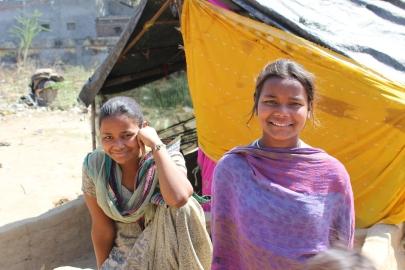 slum dwellers in Mathura, India