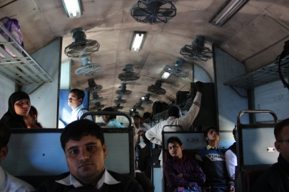 Inside an Indian train