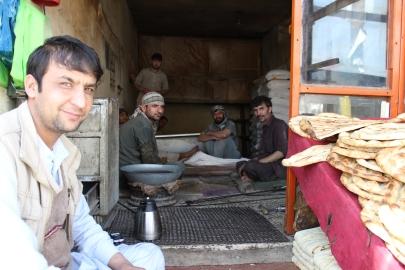 Baking Naan in Kabul, Afghanistan