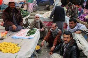 Guys in the Market in Kabul, Afghanistan