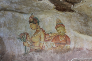 Wall paintings at Sigiriya, Sri Lanka