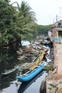 Crowded Canal in Negombo, Sri lanka