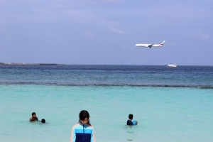 On the Beach near Airport in Male', Maldives