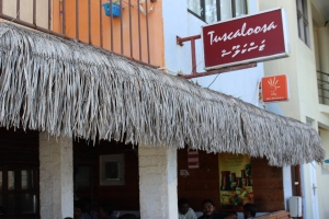 Cafe in Male, Maldives