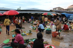 Market in Phonsavan, Laos
