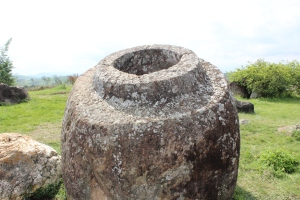 Stone 'jar' at Plain of Jars, Laos