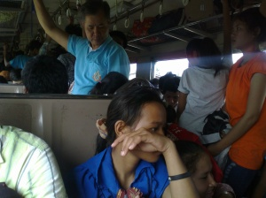 Cambodians on train
