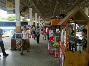 Typical Bus Station in Thailand