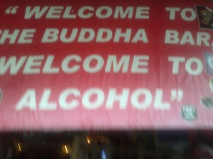 Mixed messages at a Farang Bar