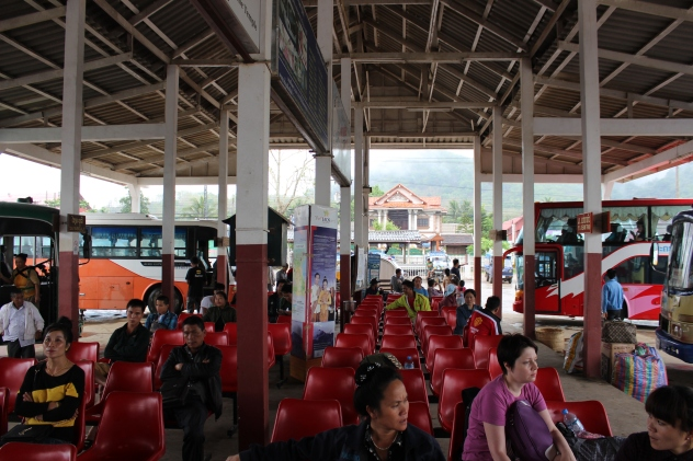 Bus Station in Rural Laos