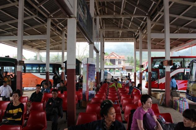 Bus Station in Rural Laos