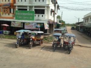 Tuk-tuks in Takhek, Laos