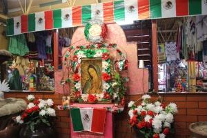 Nationalistic display in Ciudad Juarez, Mexico