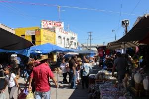 Street market in Ciudad Juarez, Mexico