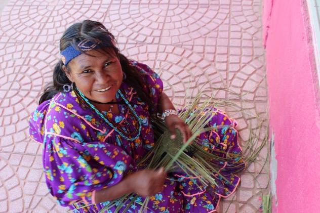 Raramuri' lady in Palomas, Chihuahua