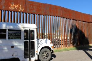 Wall and Bus: Nogales