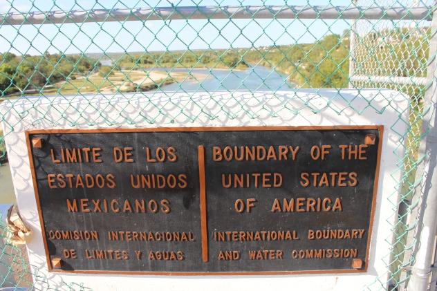 Mexico-US boundary post