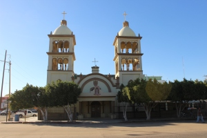 Church on the Plaza in San Luis, R.C, Mexico