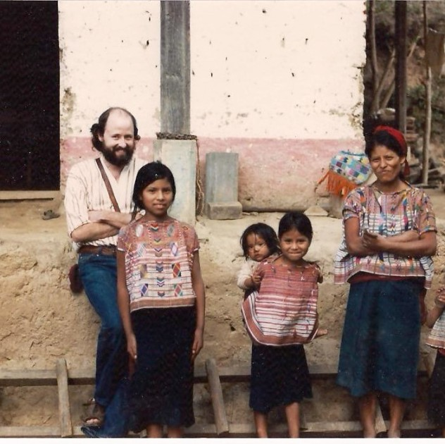 Karges in Guatemala 1983 buying huipiles