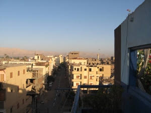 View from the roof: Luxor, Egypt