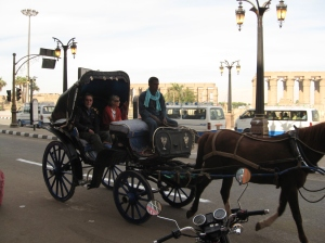 Carriage ride in Luxor, Egypt
