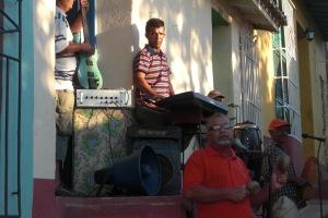 Street performers in Trinidad, Cuba