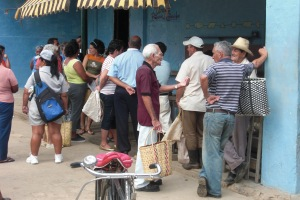 Queuing is a way of life in Havana...