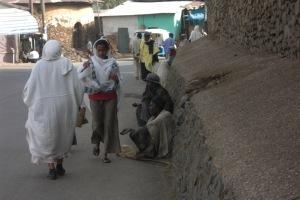 Street scene in Gonder, Ethiopia