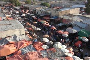 Street below in Hargeisa, Somaliland