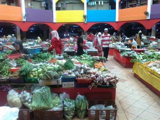 Market in Kota Bahru, Malaysia