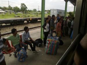 Train to Cambodia in Thailand