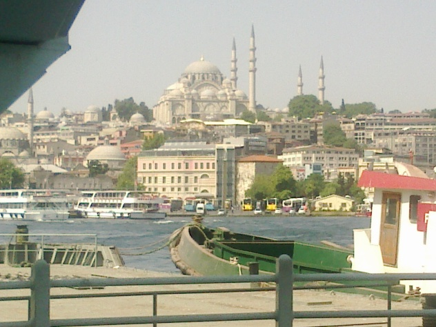 The Great Mosque of Istanbul across the water...
