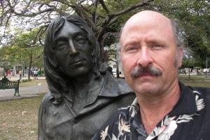Hanging with Juan Lennon in Havana